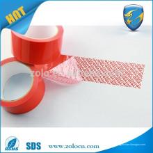 Fabrication d'usine en ligne en magasin acrylique tamper ruban adhésif ruban adhésif imprimé personnalisé pour emballage carton box