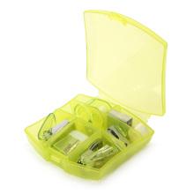 Mini juego de papelería de oficina con caja de plástico