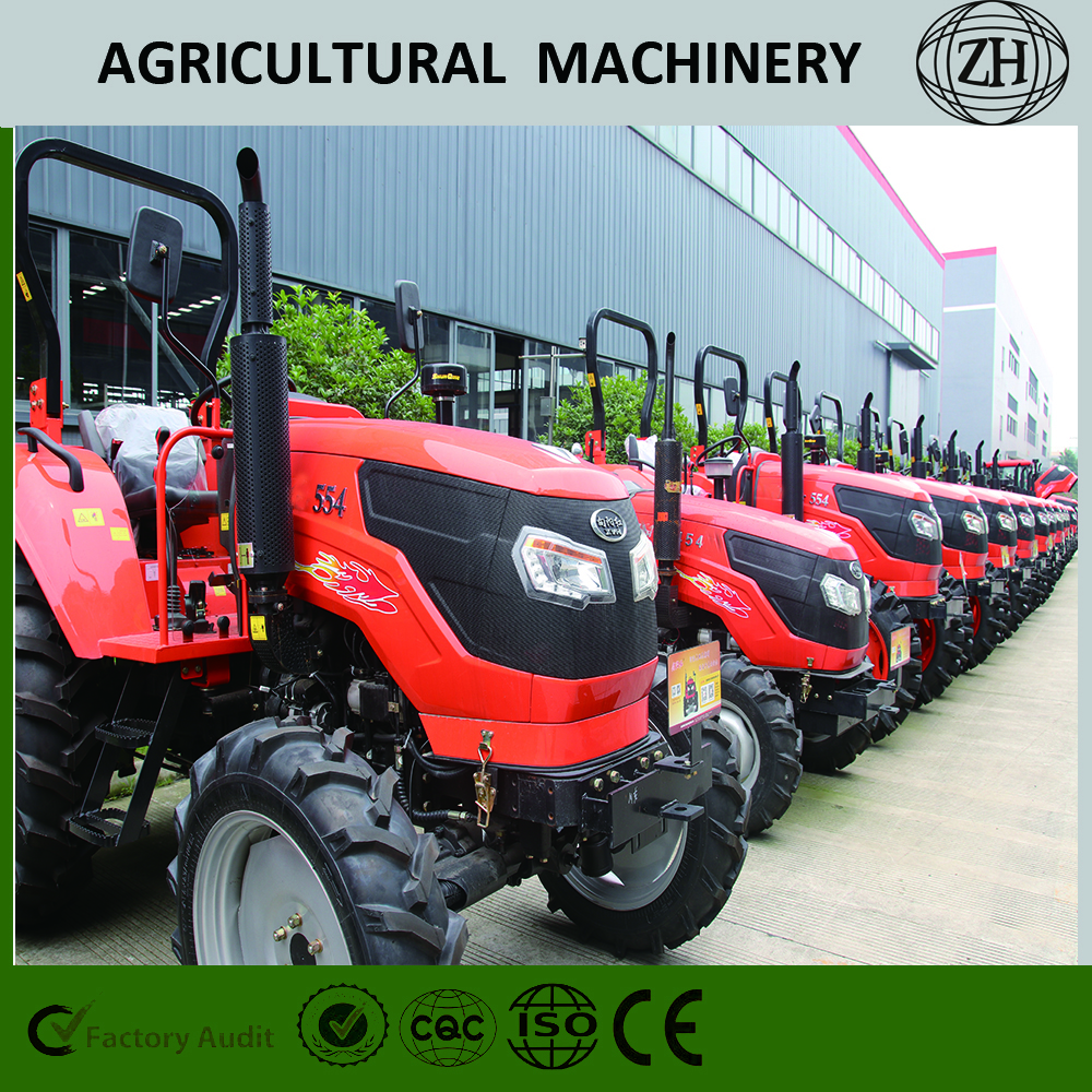 Custom 4x4 4WD 70 HP Wheel Farm Tractors With CE