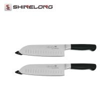 U391 Stainless Steel Cooking 7 '' Forjado japonês Granton Edge Kitchen Chef Knife