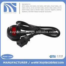 3-Prong Cable de alimentación de la computadora Cable universal de la PC Cable estándar