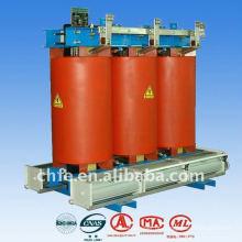 Três transformadores de fase seca tipo transformador, transformador de distribuição, subestação