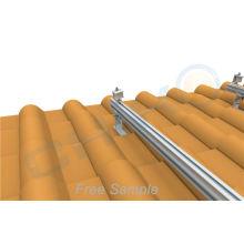 Aluminum Solar Roof Mounting rail splice kit for solar system pv panel mounting solar panel connector