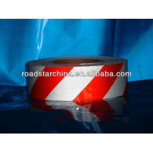 fita de advertência de barricada segurança branco vermelho