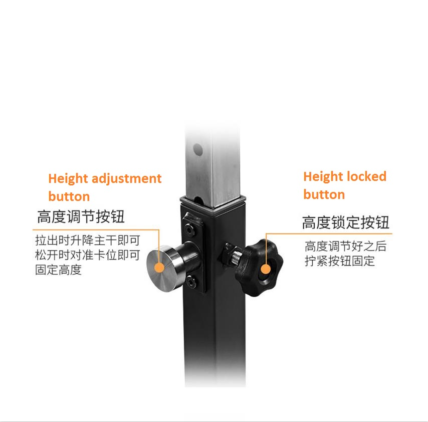 Fixed Button For Height Adjustable Funtion