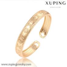 51450 Xuping nuevo diseño chapado en oro al por mayor brazaletes baratos