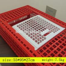 Venda al por mayor la jaula de pollo del gallinero del transporte plástico del diseño de equipo de cultivo en venta