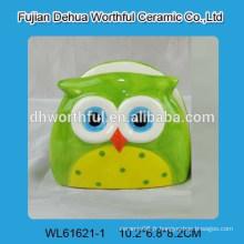 Support de serviette céramique populaire avec design de hibou