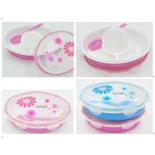 big round custom lunch box, lunch box with lock, microwave lunch box