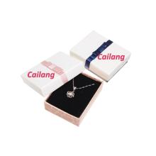 Boîtes de papier de cadeau de collier de bijoux de 2PCS faits sur commande