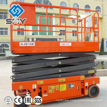 4 wheels hydraulic movable lift platform,lift table