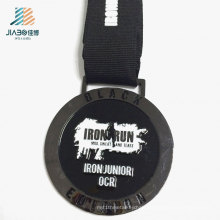 Top Sell Products Zinc Alloy Black Enamel Marathon Metal Medal