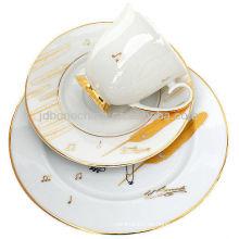 Real de hueso china mesa de comedor para la venta