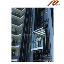 Durable Machine Roomless Panoramic Elevator with Vvvf Drive
