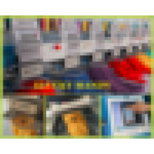 Alta velocidad 8 cabezas 15 agujas 3D Cap / camiseta máquina de bordar
