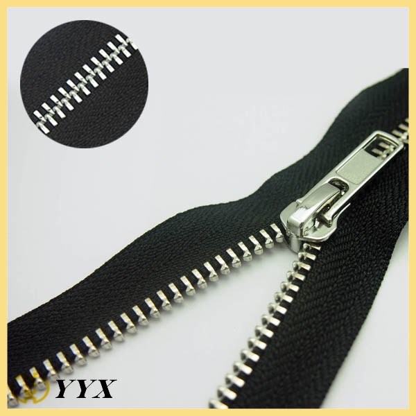 wholesale silver metal zippers