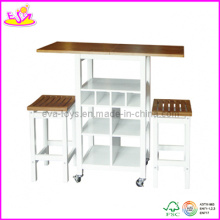 Wooden Table and Stools (WO8G085)
