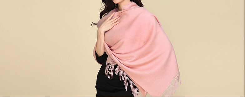 80% Wool 20% Cashmere Woven Throw -6