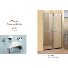 Bypass Hanging Roller Glass Shower Door
