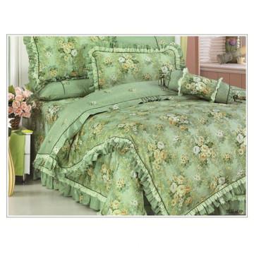 100% cotton cute flower duvet cover set floral korean style bedding set comforter set