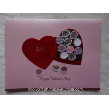 2D 3D Handmade Design Glitter Tarjeta de felicitación y Envuelva para el Día de San Valentín