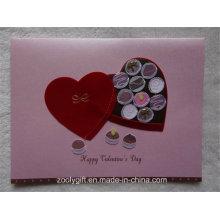 2D 3D Handmade Design Блестящая открытка и конверт на День святого Валентина