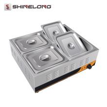 K463 4 panelas elétricas Bain Marie Buffet aquecedor de alimentos de aço inoxidável para indústria de alimentação
