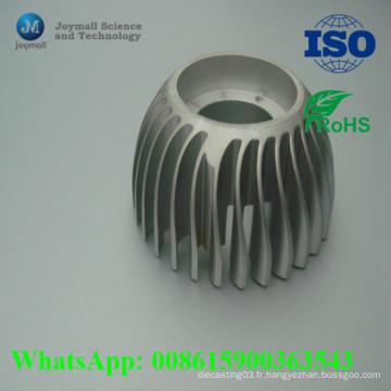 Éclairage rond à LED de radiateur rond de moulage sous pression en aluminium adapté aux besoins du client