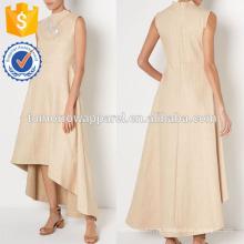 Nova moda palha tecer assimétrica princesa vestido broches destacáveis fabricação atacado moda feminina vestuário (t5274d)