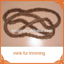 Top quality 2cm mink fur trimming