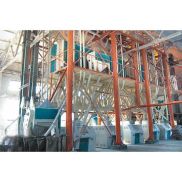 Máquina de molienda industrial de harina de trigo de 100 toneladas.