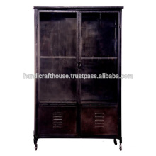 Industrial Metal Black Vintage with 2 drawers Wardrobe