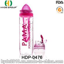 Botella infusor de fruta popular de plástico, botella de infusión de fruta Tritan (HDP-0476)