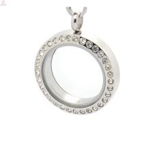 Encantos flotantes de cristal de plata de 25mm encantos rostros caracola y encantos de medallones dentro