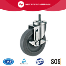 Thread Stem TPR Industrial Caster With Brake