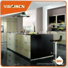 Fábrica de entrega a tempo diretamente móveis de cozinha prefabricados para o mercado da América do Norte