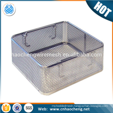 Surgical Instruments Disinfection customized shape stainless steel wire mesh basket with lid