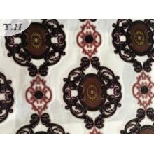 2017 nuevo diseño imprimir telas de terciopelo en fabricante de China