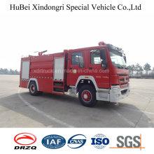 10ton Sinotruk HOWO Type de réservoir d'eau Combustion d'incendie Euro 4