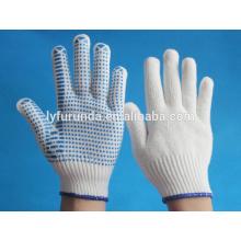 PVC luva de pontos, luvas de trabalho anti-derrapantes e anti-derrapantes