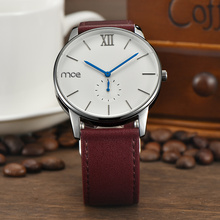 custom brand dial leather bands watch