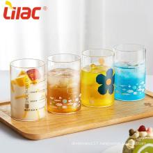 Lilac 240ml/280ml/360ml/430ml borosilicate glass cup