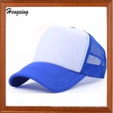 Benutzerdefinierte Casual Freizeit Blue Brim Snapback Mesh Baseball-Mütze