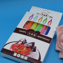 Colorful striped sprial number birthday candels