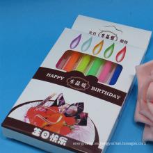 Número de rayas coloridas sprial cumpleaños candels