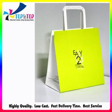Tartrazine saco de papel / saco de papel marrom / papel saco de presente com alça