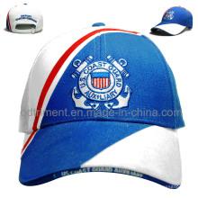 De algodón de sarga de sarga de algodón bordado ocio gorra de béisbol (TMB6224)