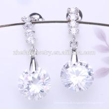 Neue Lager nickelfrei Kristallkugel Perlen Ohrringe