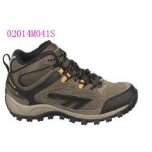 Zapatos de tacón superior de gamuza y nailon
