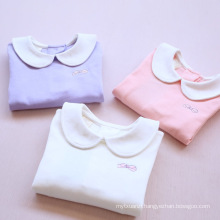 2018 factory sales directly cheap children Autumn cotton T-shirts Winter long sleeve Cute warm underwear clothes girls top wear